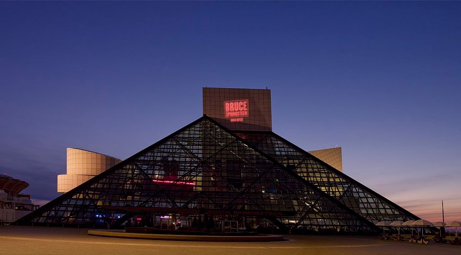 1 – The Rock and Roll Hall of Fame, Cleveland.