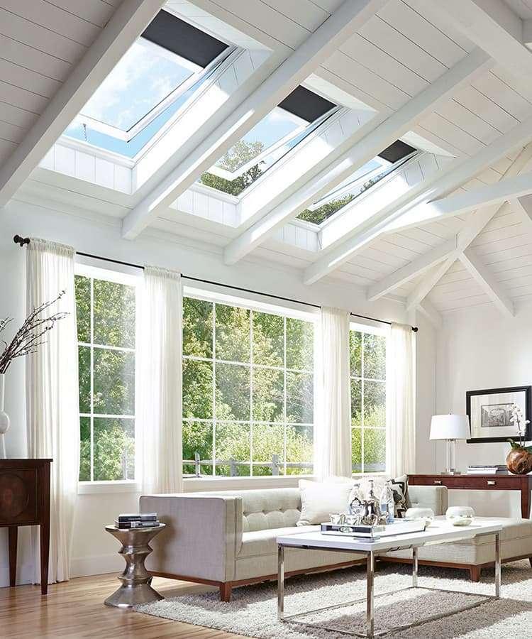 Velux solar skylights